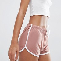 ASOS Basic Cotton Shorts with Contrast Binding