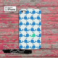 Whale Pattern Blue and Turquoise Cute Tumblr Inspired iPhone 4/4s Case and iPhone 5/5s/5c Case and Wallet Case and iPhone 6 and 6 Plus