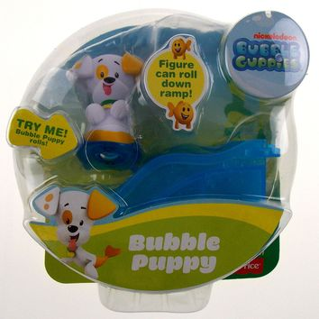 Fisher Price Nickelodeon Bubble Guppies Puppy Rolls on Ramp Toddler Toy