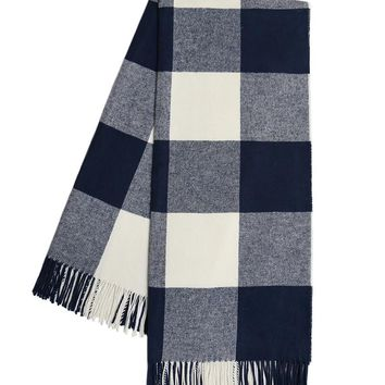 Buffalo Check Throw | Navy
