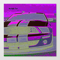 Purple Cobra Stretched Canvas by James Eye