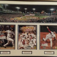 2004 Boston Red Sox World Series Champions Matted Framed Picture Damon Schilling