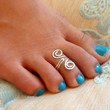 Handcrafted Hammered Grecian Style adjustable Toe Ring - Sterling Silver , 14k Gold Filled or Copper