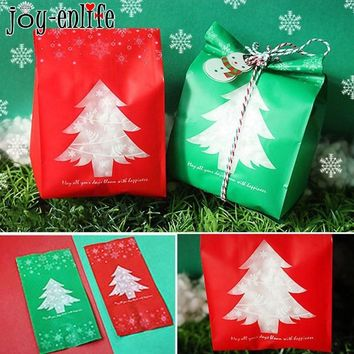 20pcs Christmas Plastic Bag Candy Wedding Party Gift Bags / 2 color choices
