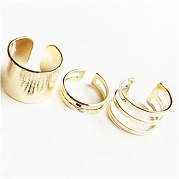 3 Pcs/Set Fashion Above The Knuckle Open Ring