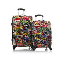 Heys Travel Set Marvel Luggage Comic Book Teens Adult 2pc Spinner Carry On Hard