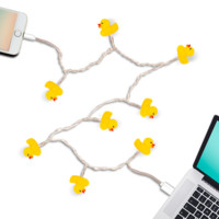 Yellow Duck LED Light up iPhone Charger