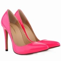 New Women's Pumps Sexy Pointed Toe High Heels Shoes For Woman Spring Autumn Brand Wedding Shoes Pumps  US SIZE 35-42    302-1PA