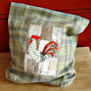 Bread bag with a rooster by BozenaWojtaszek on Etsy