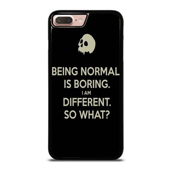 NORMAL IS BORING QUOTES iPhone 8 Plus Case Cover
