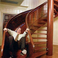 The art of Funcionality / awesome staircase, stairs, slide uploaded by ocicat