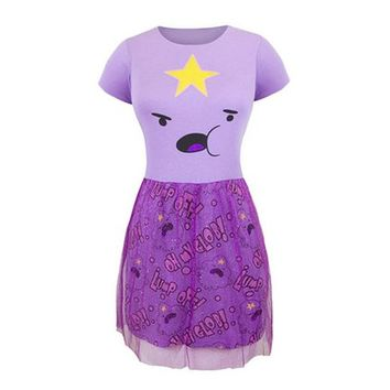 Adventure Time LSP Fit n Flare Tulle Dress