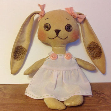 Bunny Rabbit, Rabbit,cloth doll, doll, softie,soft doll, Easter, pink bunny, fabric hare,Stuffed animal rabbit, child friendly,Easter Rabbit