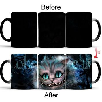 32d39806e Alice in Wonderland Cheshire Cat mug heat changing color heat re