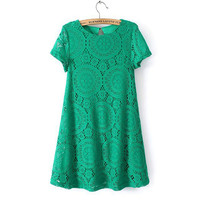 New Women Short Sleeve Lace Cocktail Party Loose Princess Dress Fashion Just for you
