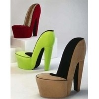 High Heel Shoe Chair | Choose your own color stiletto high heel chair. Made in the USA.