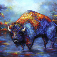 Bison by Patricia Lintner