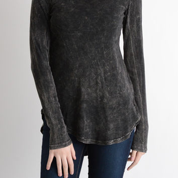 Cut Out Racer Back Long Sleeve Top