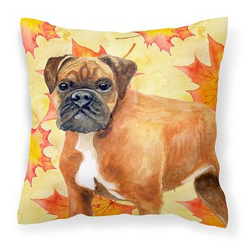 German Boxer Fall Fabric Decorative Pillow BB9901PW1818