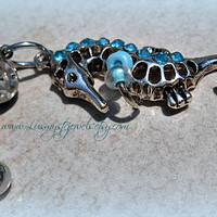Seahorse Belly Ring, Nautical, Beach wear, Body Wear, Navel, Direct Checkout, Ready to Ship,