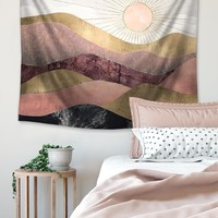 Sunset Oil Painting Tapestry