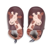 Tommy Tickle Soft Sole Leather Giraffe Baby Shoe in Brown