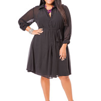 Solid Shirtwaist Dress