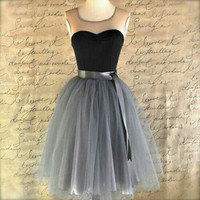 Tulle Black A-line Homecoming Dress