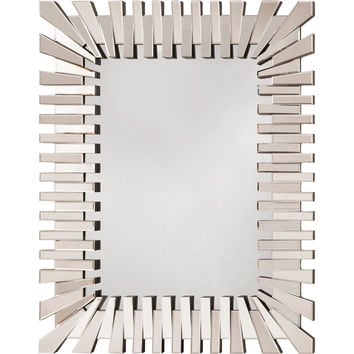 OSP Empire Rectangle Wall Mirror with Glass Frame