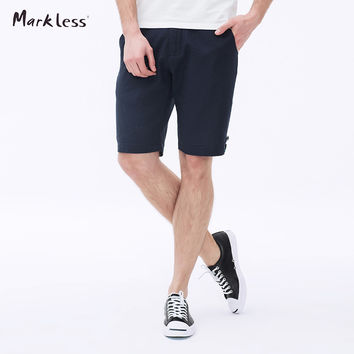 Men's Slim Shorts Men Shorts Cotton and Linen Black Thin Short Pants Casual Knee-length Male Beach Shorts