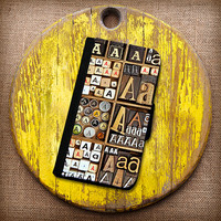 Choose Your Letter! Vintage Letterpress Letter Box Wallet Case. Choose iPhone 4/4s, 5/5s, 5c or Galaxy S3, S4.