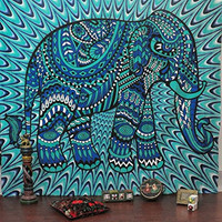 JaipurHandloom Christmas Gift Hippy Tapestries Elephant Mandala Hippie Tapestry Indian Traditional Throw Beach Throw Wall Art College Dorm Bohemian Wall Hanging Boho Queen Bedspread