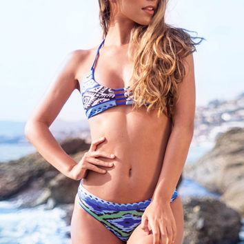 Cupshe Deep Water Halter Bikini Set