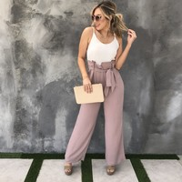 Jack & Jill Two Tone Jumpsuit in Mauve