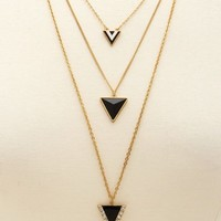 Triple Layer Geo Necklace