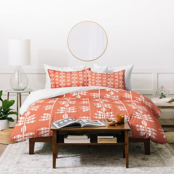 Heather Dutton Abadi Coral Duvet Cover