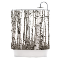 "Monika Strigel ""Birchwood"" Gray Forest Shower Curtain"