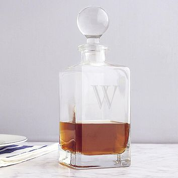 Personalized Square Whiskey Decanter