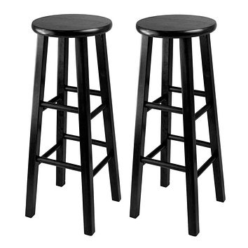 Winsome Wood Winsome Wood Attractive Obsidian Bar Stool With Square Leg (Set of 2)