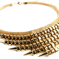 """Excuse My Statement"" Gold Statement Necklace"
