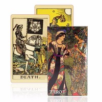 English version smith-waite tarot deck old-fashioned color centennial tarot cards game board game