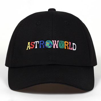 a7f8221eb7e 100% Cotton ASTROWORLD Baseball Caps Travis Scott Unisex Astrowo