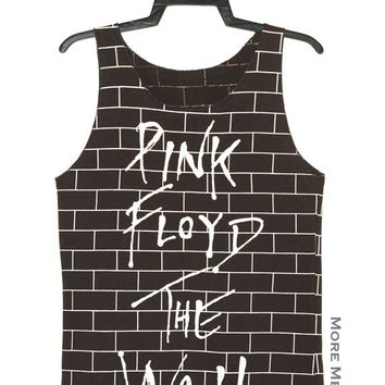 Pink Floyd The Wall Charcoal Black Tank Top Singlet Vest Tunic Sleeveless Women Tee Shirt Punk Rock Music T-Shirt Size S-M