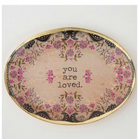 Natural Life Glass Tray - You Are Loved
