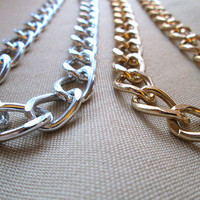 Sweet Simple Chunky Link Necklace - Gold or Silver plated finish (the Sarah Bethany)