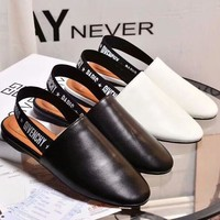 Givenchy 2018 spring and summer new style with letter flat sandals F-OMDP-GD