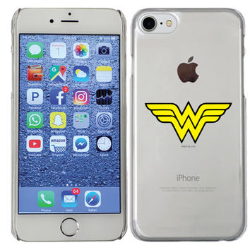 Wonder Woman - Emblem design on iPhone 7 ClearShield Case by Fanmade | Coveroo
