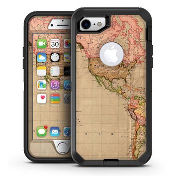 The Eastern World Overview Map - iPhone 7 or 7 Plus OtterBox Defender Case Skin Decal Kit