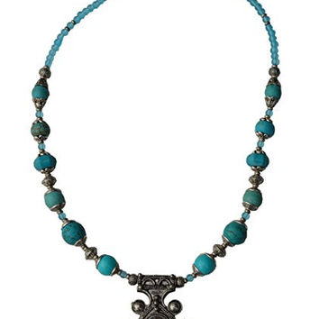Morocan Jewerly Berber Necklace Arabic Turquoise Beads With Pendant