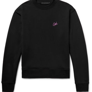 Alexander Wang - Embroidered Loopback Cotton-Jersey Sweatshirt